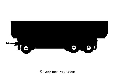 Large Car Trailer. Vector Illustration.