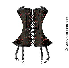 black large corset