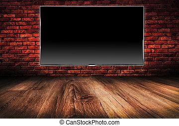 black lcd tv screen