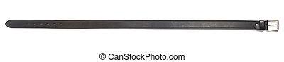 Black leather belt, isolated, cutout - Black leather belt ...