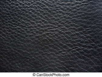 Black leather close up photography as background.
