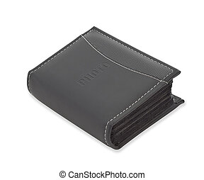 Black leather photo album