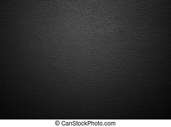 Real close-up of black leather texture
