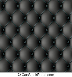 Black leather upholstery - Seamless vector illustration of...