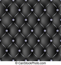 Black leather Upholstery pattern