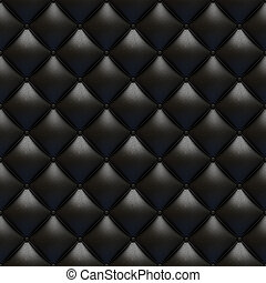 Black leather upholstery texture seamless
