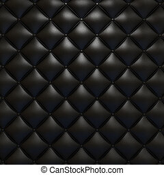 Black leather upholstery texture with grat detail for...