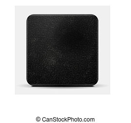 Black leather vector square design - Black leather vector ...