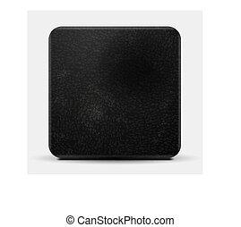 Black leather vector square design - Black leather vector...
