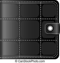Black leather wallet over white. EPS 10, AI, JPEG