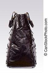 Black leather woman bag