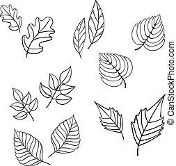 Black leaves vector illustration