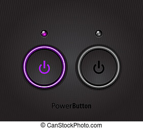 Black led light power button - Black power button with led...