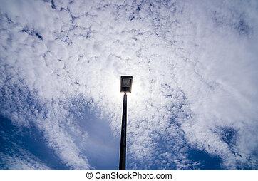 Black Light pole and sky