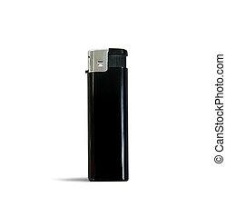 Black lighter over white
