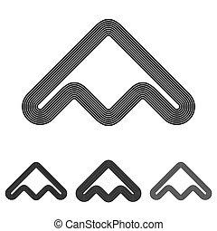 Black line abstract logo design set