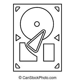 black line gramophone icon
