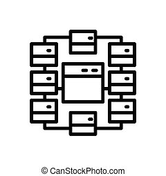 Black line icon for Site-map
