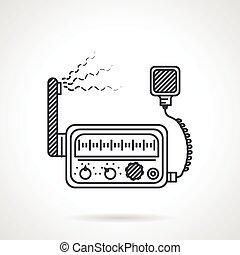 Black line icon for VHF radio