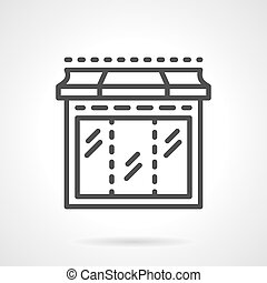 Black line showcase window vector icon