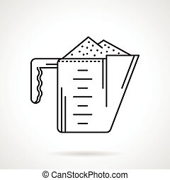 Black line vector icon for cup