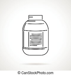 Black line vector icon for jar
