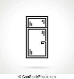 Black line vector icon for window