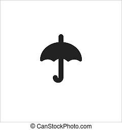 black line vector umbrella icon