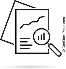 black linear document like auditing