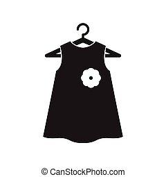 Black little dress on hanger