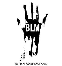 Black Lives Matter - Bloody Hand in Black Color, Design ...