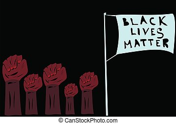 Black Lives Matter flag movement