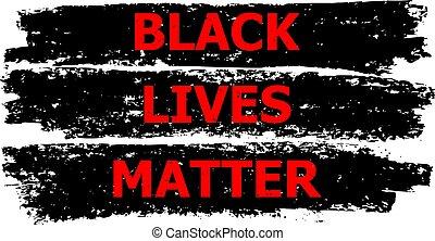 Black Lives Matter Illustration for Human Rights
