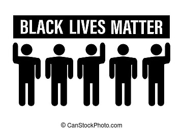 Black Lives Matter movement. Black humans pictograms and ...