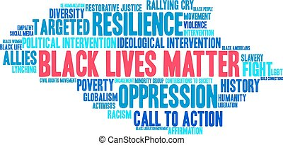 Black Lives Matter Word Cloud - Black Lives Matter word...