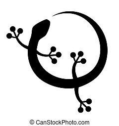 Black lizard - Design of black lizard illustration