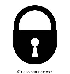black lock icon