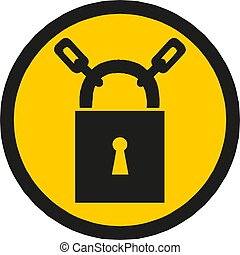 Black Lock icon . Padlock sign. Security, safety, protection, privacy concept. Vector Illustration