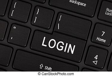 Black login button