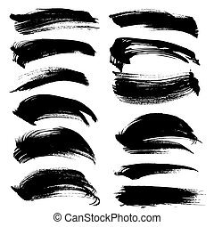 Black long abstract strokes