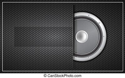 Black loudspeaker business card - Vector illustration for ...