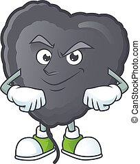 Black love balloon mascot cartoon character style with Smirking face