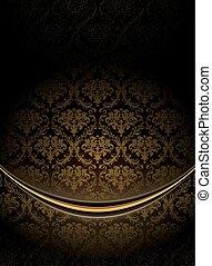 Black Luxury Background, vector