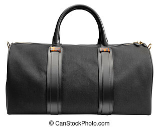 black luxury bag isolated on white background