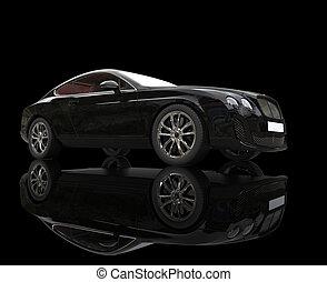 Black Luxury Car on Black
