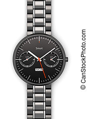 Black luxury smart watch - Creative abstract business...