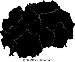 Black Macedonia map - Administrative division of the...