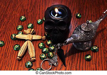 Black magic esoteric symbols