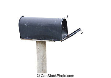 Mailbox - Black Mailbox with white background