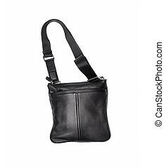 black male handbag isolated on white background